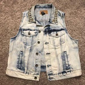 Studded Collar Vest